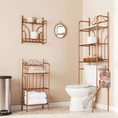 23 in. Bronze Scroll 3-Piece Bath Set