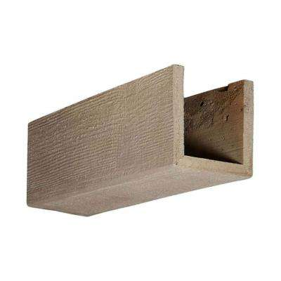 6 in. x 6 in. x 12 in. 3 Sided (U-Beam) Rough Sawn Whitewash Endurathane Faux Wood Ceiling Beam Premium Sample