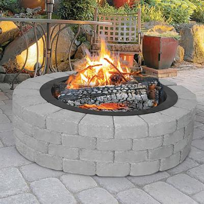 Heavy-Duty 28 in. x 10 in. Round Steel Wood Fire Pit Ring with 2.7 mm Steel