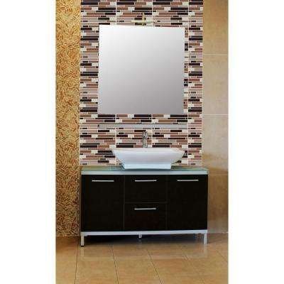9.125 in. x 9.125 in. Magic Gel Decorative Mosaic Wall Tile in Coffee and Beige Piano (6-Pack)