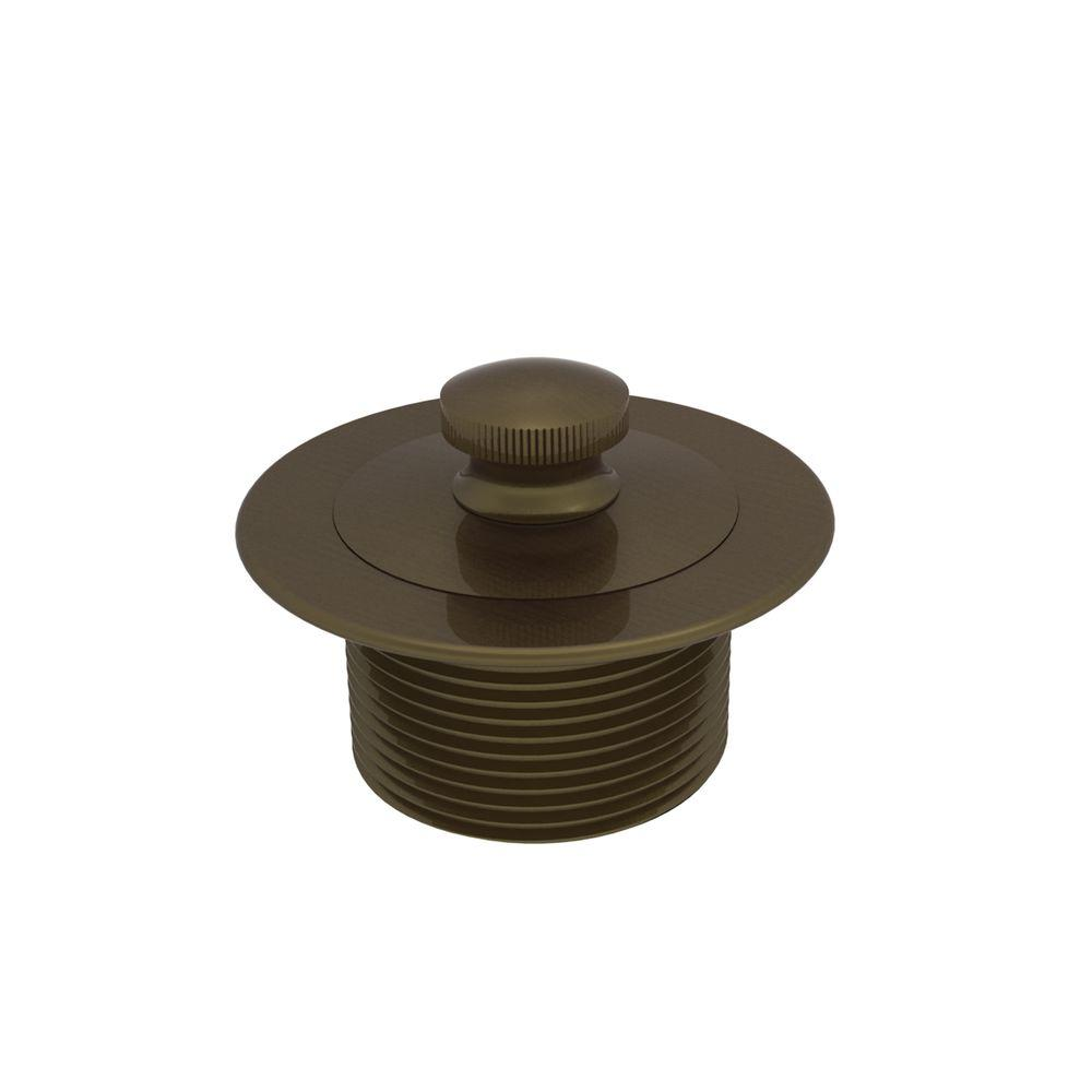 Brasstech 2-13/16 in. Lift and Turn Bath Plug in Antique Brass