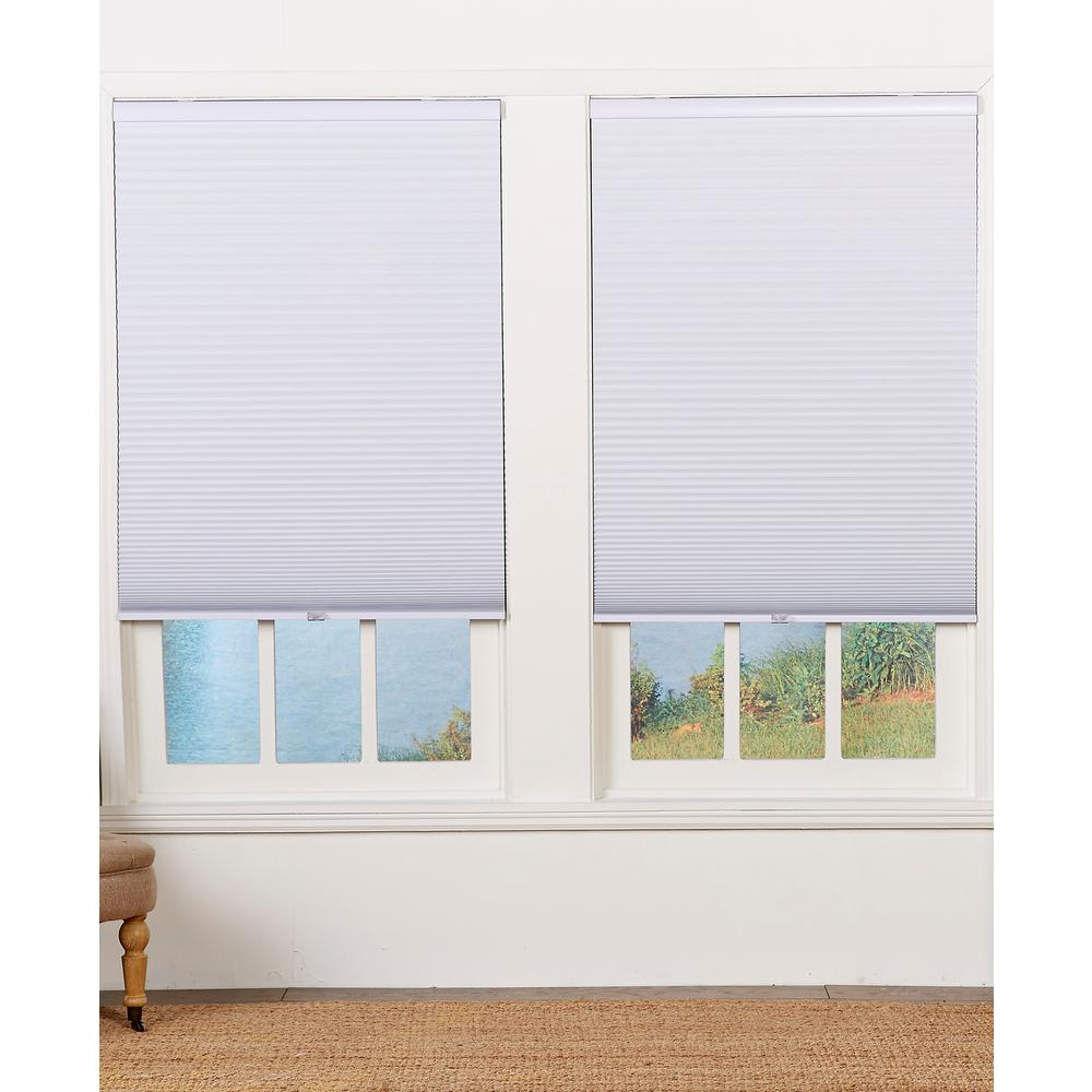 Perfect Lift Window Treatment Cut-to-Width White Cordless Blackout Cellular Shade - 29 in. W x 64 in. L