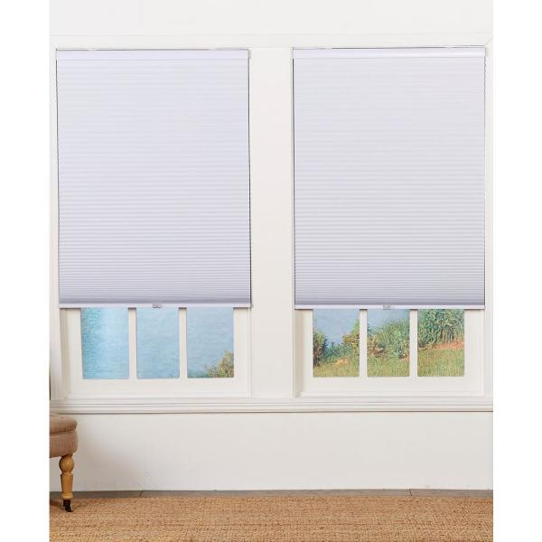 Perfect Lift Window Treatment Cut To Width White Cordless Blackout Cellular Shade 70 In W X 48 In L Qewt700480 The Home Depot
