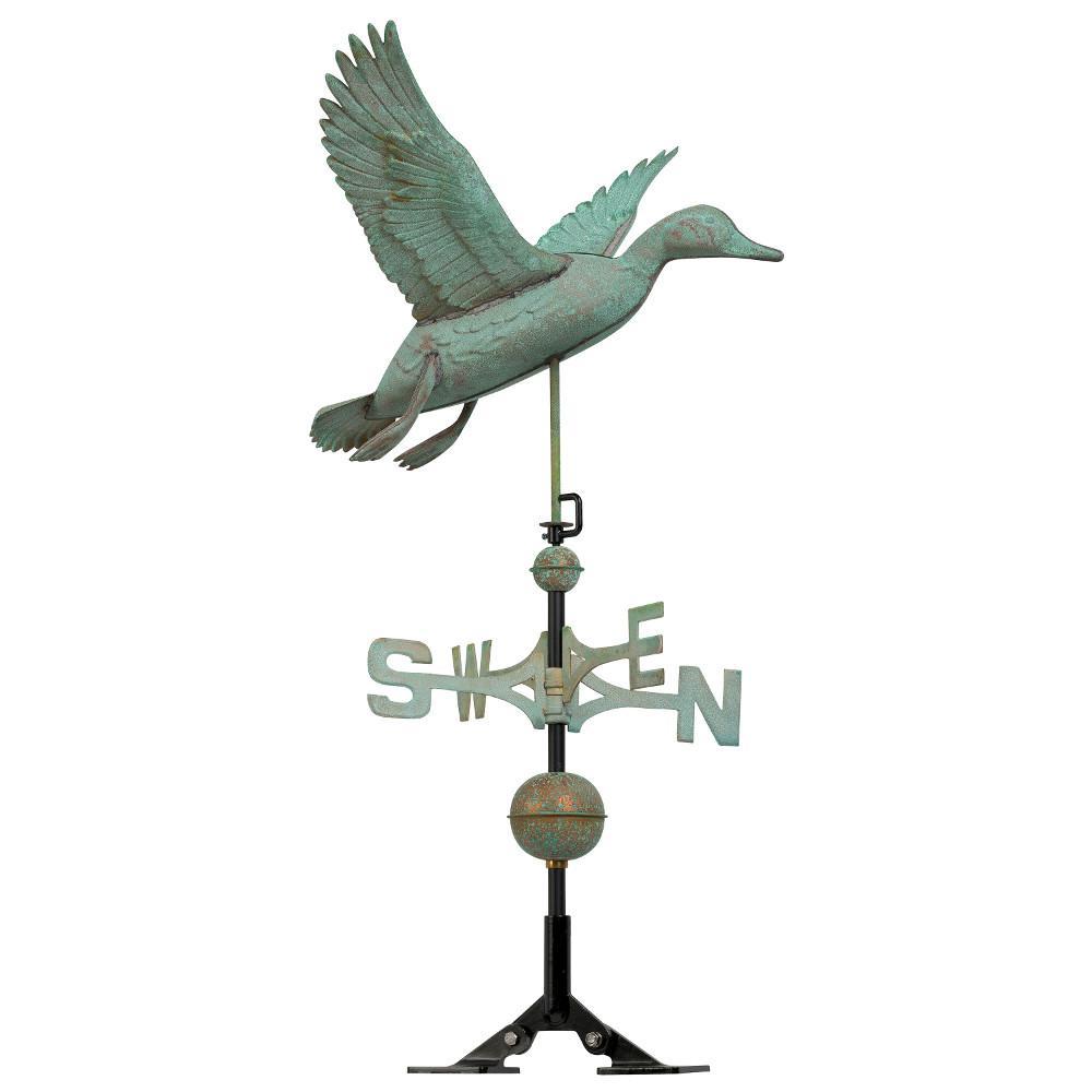 48 in. Verdigris Duck Copper Weathervane