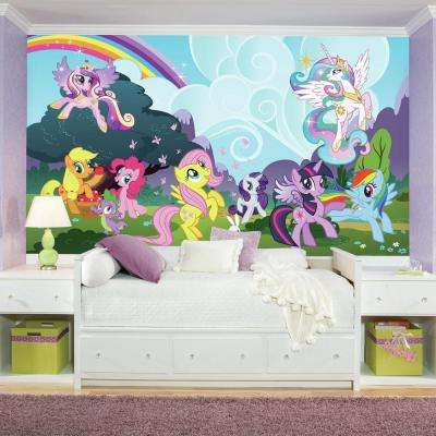 72 in. x 126 in. My Little Pony Ponyville XL Chair Rail Prepasted Wall Mural (7-Panel)