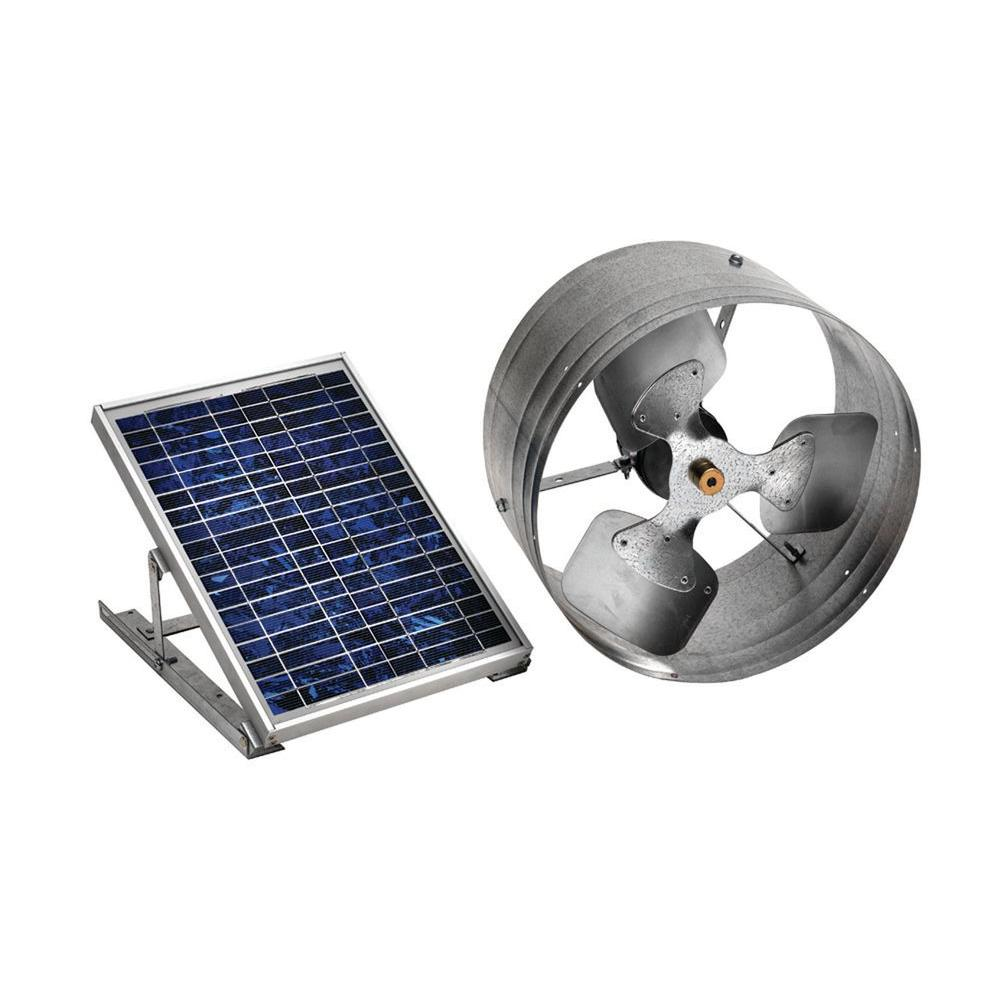 Mountable Exhaust Fan : Master flow cfm solar powered gable mount exhaust fan