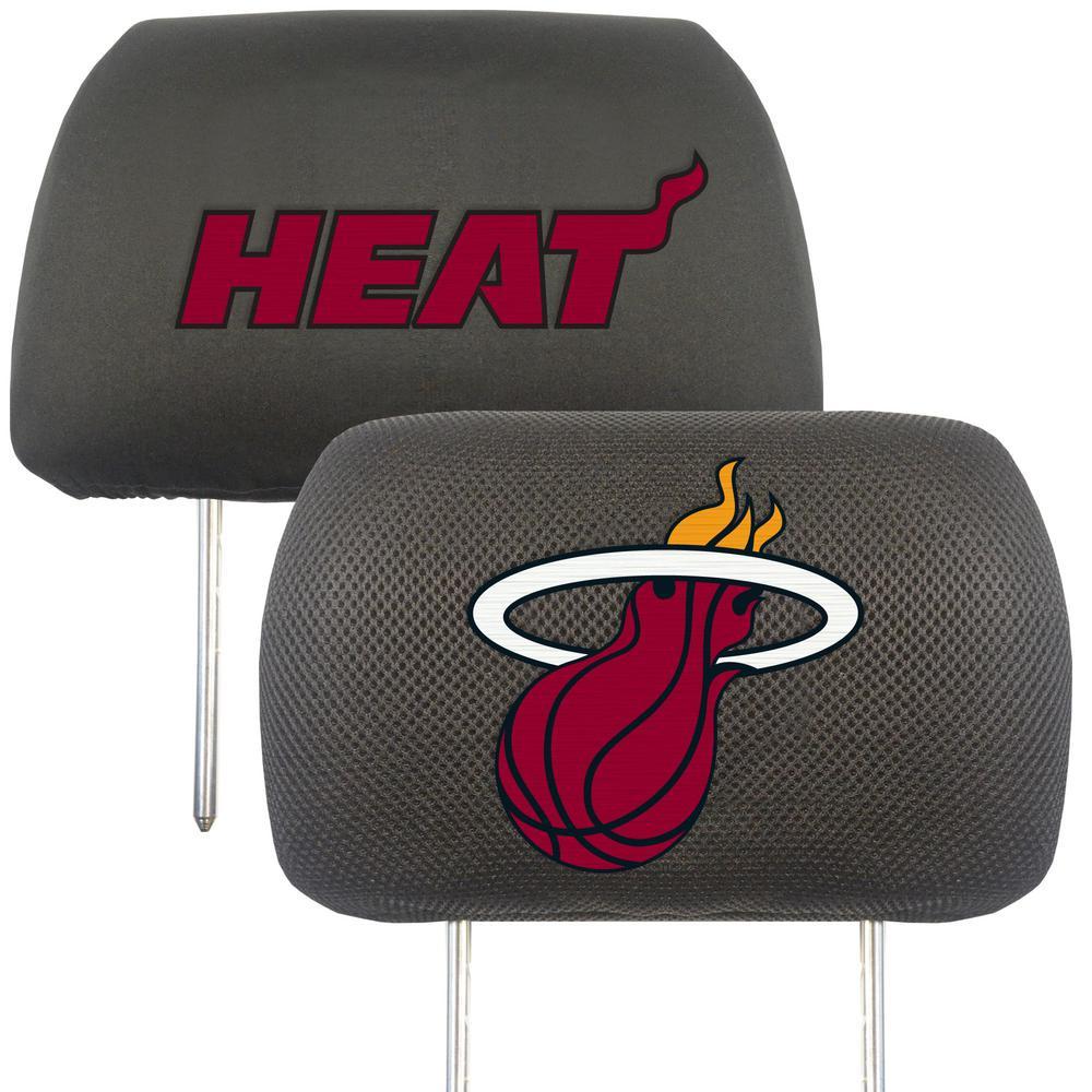 NBA - Miami Heat Mesh 13 in. x 10 in. Head Rest Cover