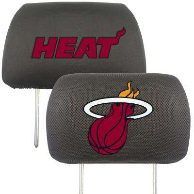 NBA - Miami Heat Mesh 13 in. x 10 in. Head Rest Cover