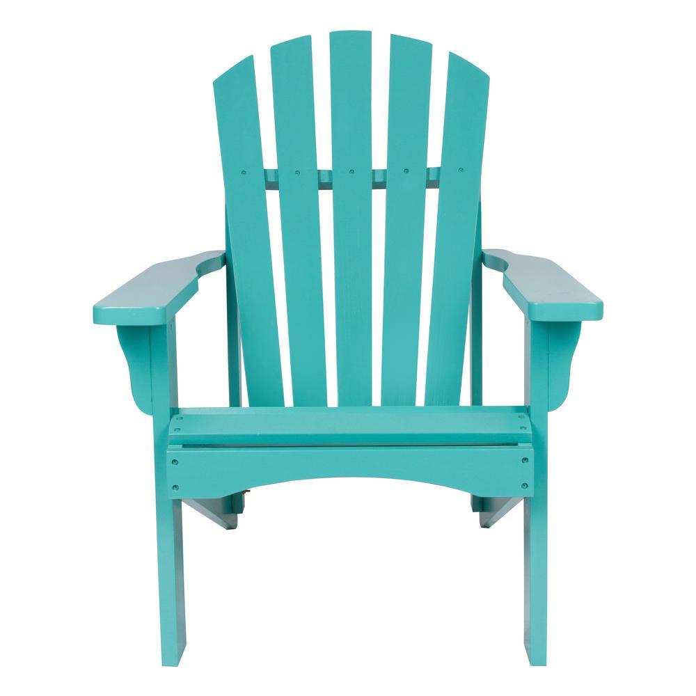 Rockport Cedar Wood Adirondack Chair - Aqua