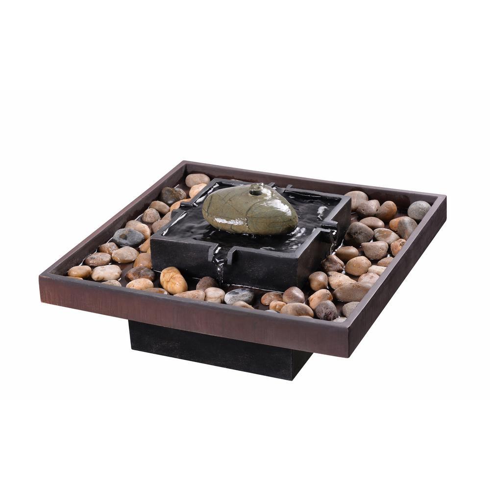 Kenroy Home Zen Concrete Indoor Table Fountain-51041BRZ - The Home Depot
