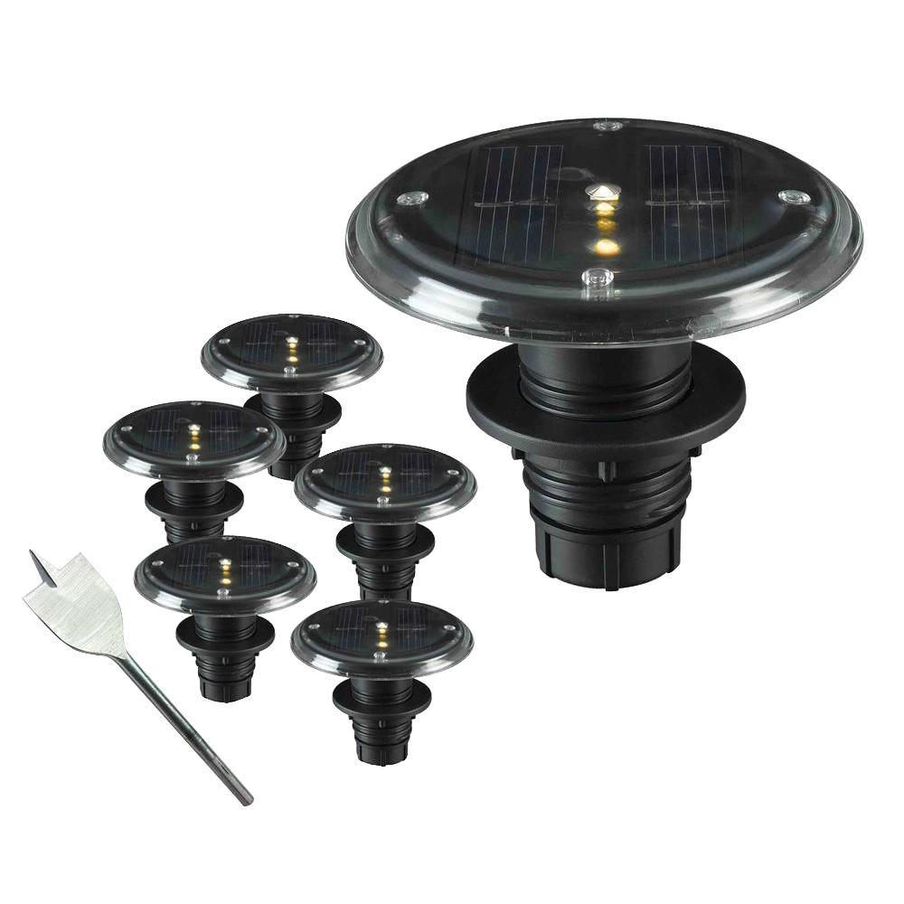 kenroy home 1 watt solar led deck dock and path light 5 set