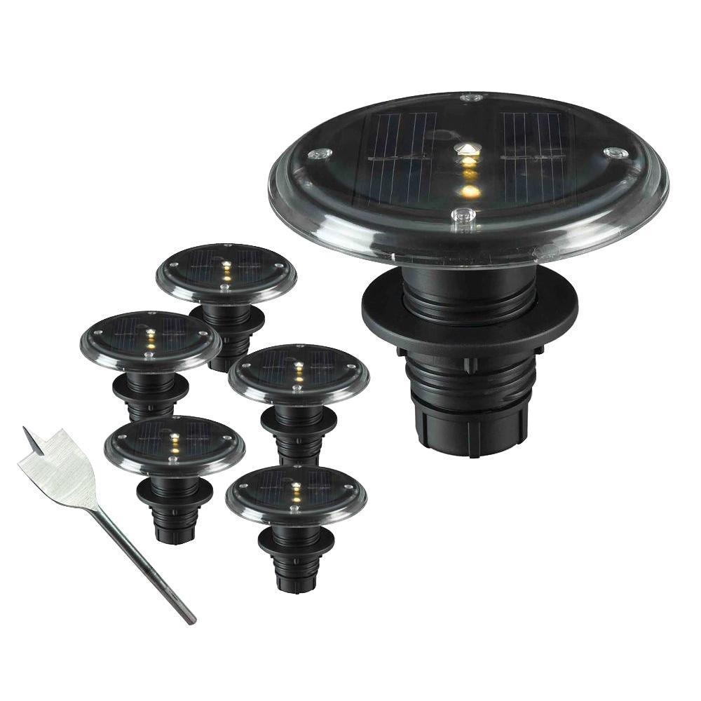 1-Watt Solar LED Deck, Dock and Path Light (5-Set)