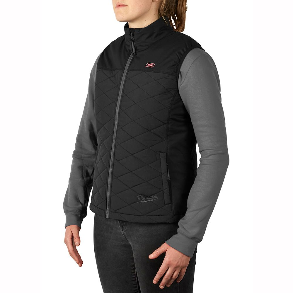 Women's Large M12 12-Volt Lithium-Ion Cordless AXIS Black Heated Quilted Vest