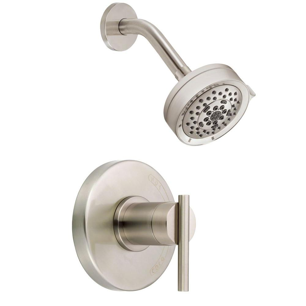 Parma Single-Handle Pressure Balance Shower Faucet Trim Kit in Brushed Nickel