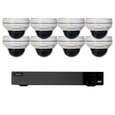 8-Channel 4K 2TB NVR Surveillance System with 4MP 8-Dome Cameras
