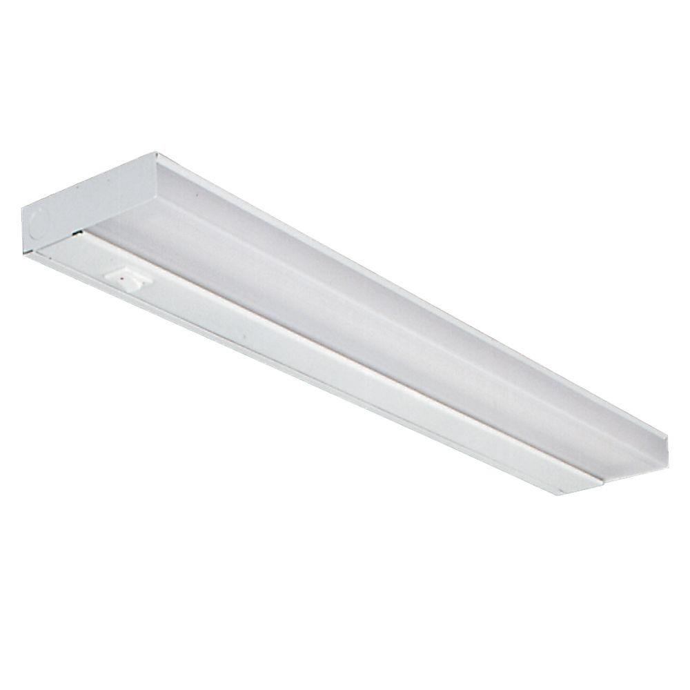 21 in. White Fluorescent Slim Line Under Cabinet Light Fixture ...