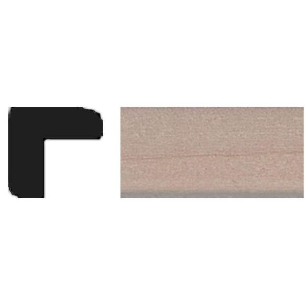 TT09 - 3/8 in. x 3/8 in. x 4 ft. Basswood Outside Corner Tinytrim Moulding