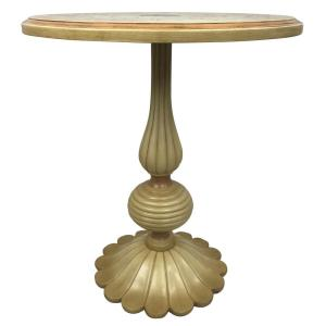 Internet #301840606. Null Florentine Distressed Ivory Handpainted End Table