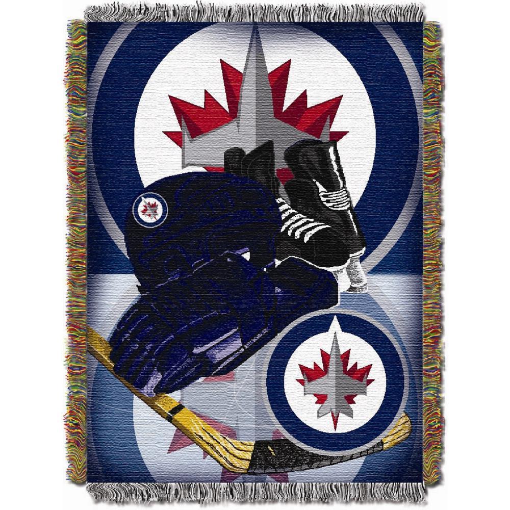 Winnipeg Jets Multi Color HIA Tapestry Throw
