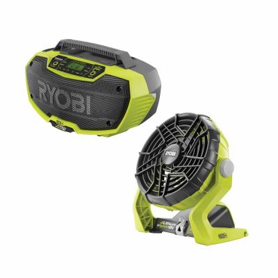 18-Volt ONE+ Lithium-Ion Cordless Hybrid Stereo with Bluetooth Wireless Technology and Hybrid Portable Fan (Tools Only)
