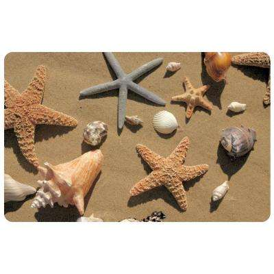 Multi Color 18 in. x 27 in. Neoprene Beachcomber Door Mat