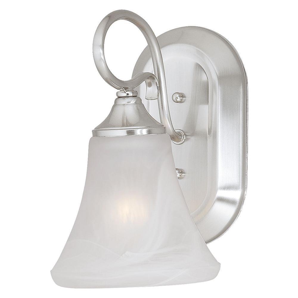 Thomas Lighting Elipse 1-Light Brushed Nickel Sconce