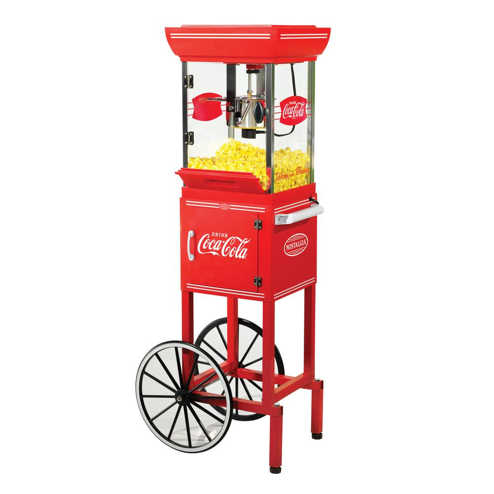 Old Fashioned Movie Time Popcorn Machine And Cart Ccp