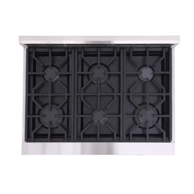 Entree 36 in. 5.5 cu. ft. Professional Style Dual Fuel Range with Convection Oven in Stainless Steel and Black