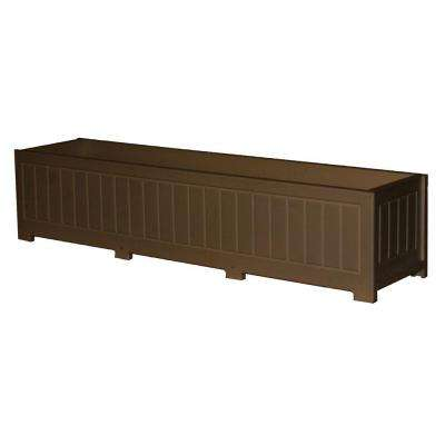 Catalina 48 in. x 12 in. Brown Recycled Plastic Commercial Grade Planter Box