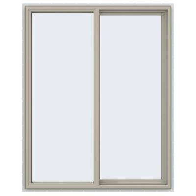 47.5 in. x 59.5 in. V-4500 Series Right-Hand Sliding Vinyl Windows - Tan