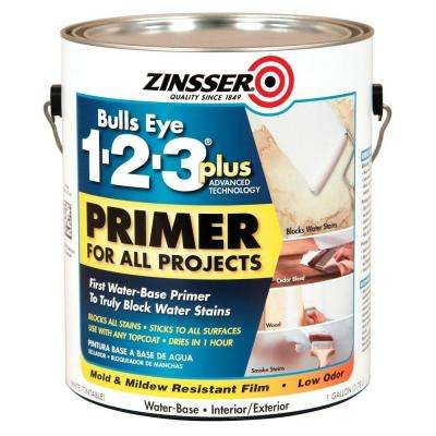 1 gal. Flat White Bulls Eye 1-2-3 Plus Interior and Exterior Primer (Case of 2)