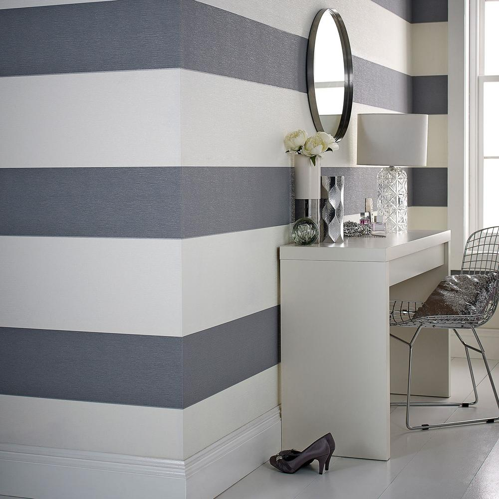 Graham & Brown Glitz Gray Wallpaper