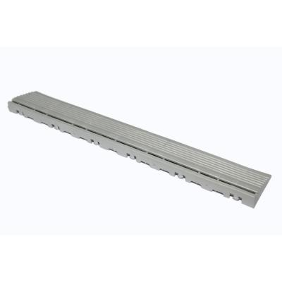 15.75 in. Pearl Silver Pegged Edging for 15.75 in. Swisstrax Modular Tile Flooring (2-Pack)