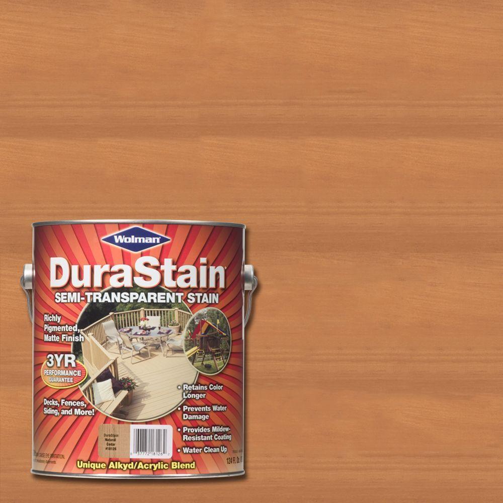 Wolman 1 Gal. DuraStain Natural Cedar Semi-Transparent