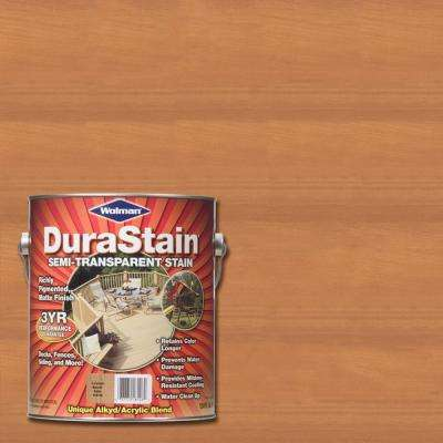 1 gal. DuraStain Natural Cedar Semi-Transparent Exterior Wood and Deck Stain (4-Pack)