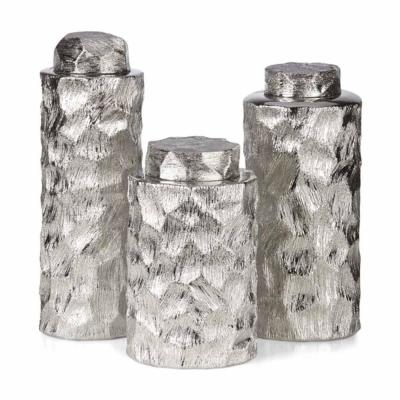 Silver Cullen Ceramic Containers (Set of 3)