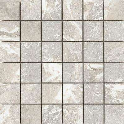 Vienna Hayden 13.07 in. x 13.07 in. x 9mm Porcelain Mesh-Mounted Mosaic Tile