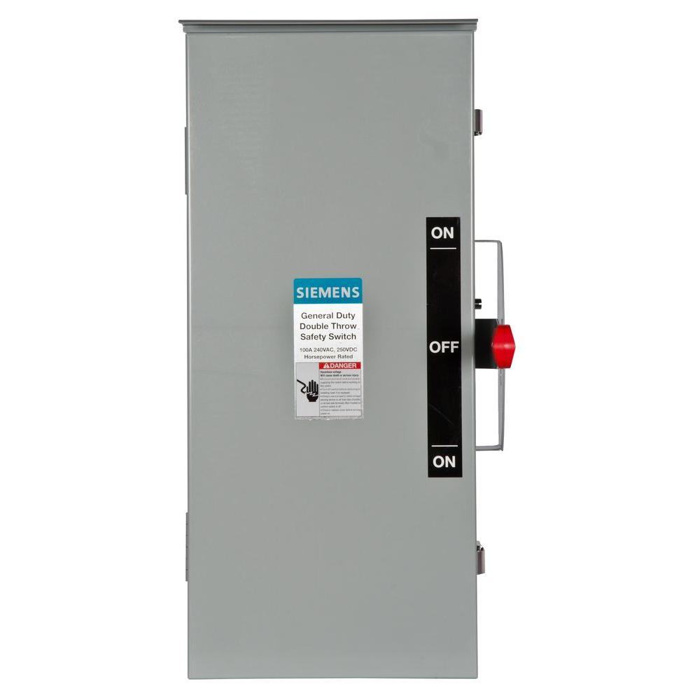 Siemens General Duty Double Throw 100 Amp 240