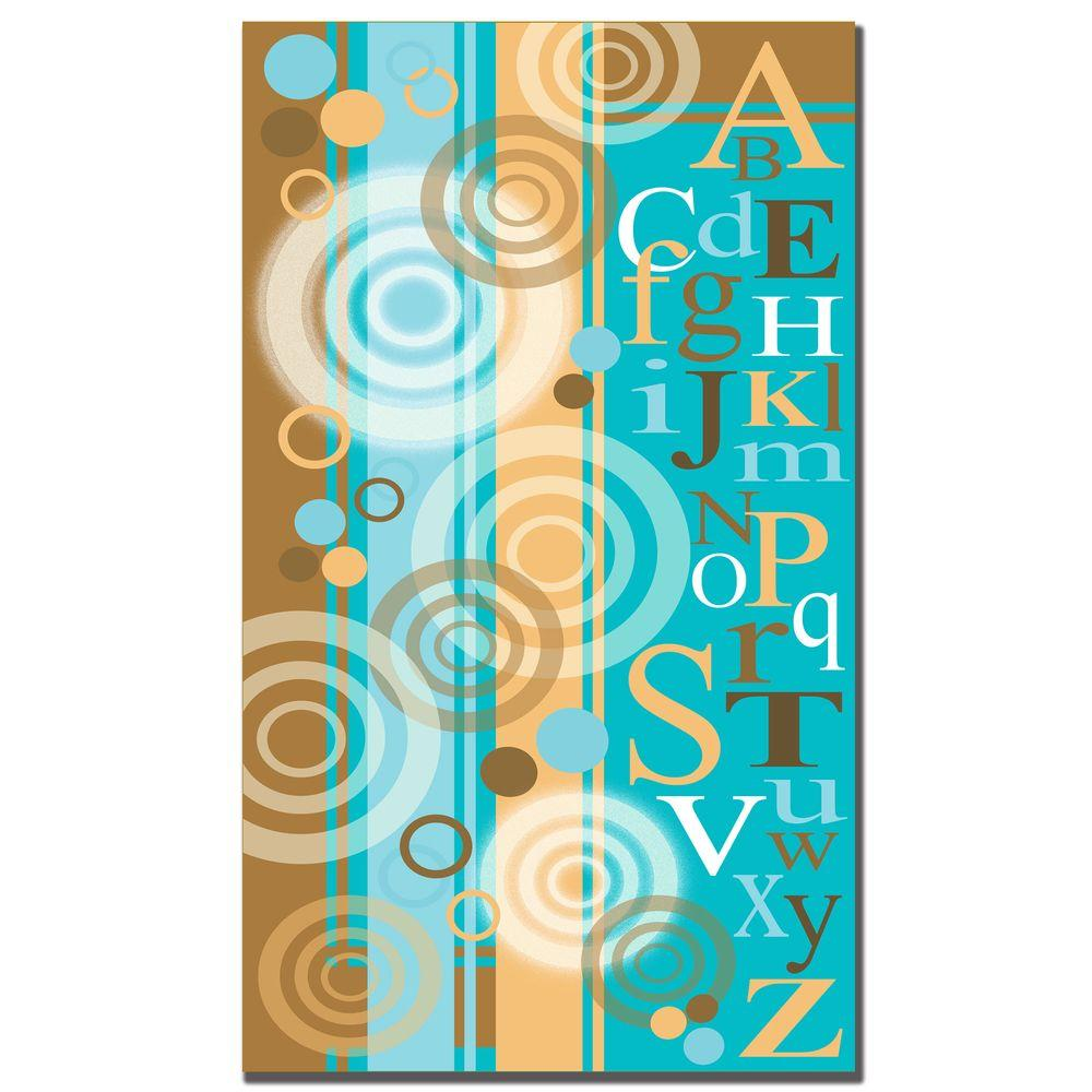 Trademark Fine Art 10 in. x 19 in. Circles and Letters Canvas Art