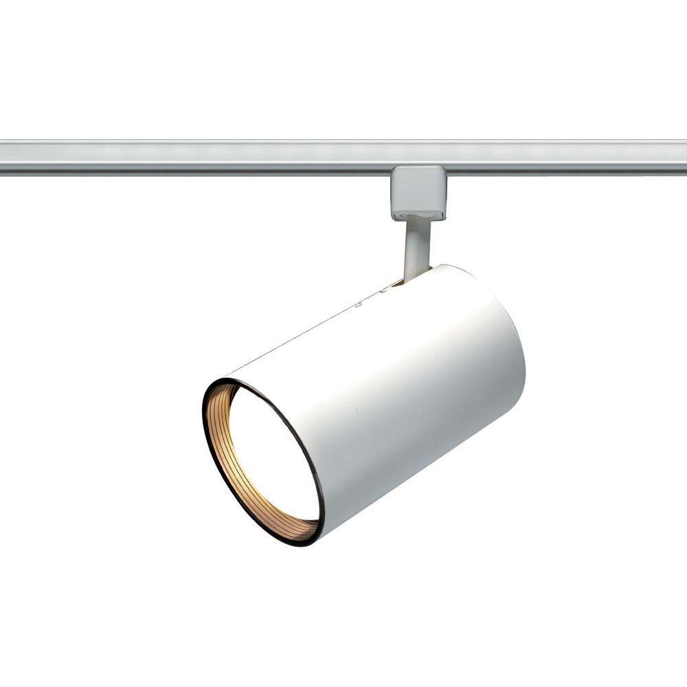 1-Light White Incandescent Track Lighting Head