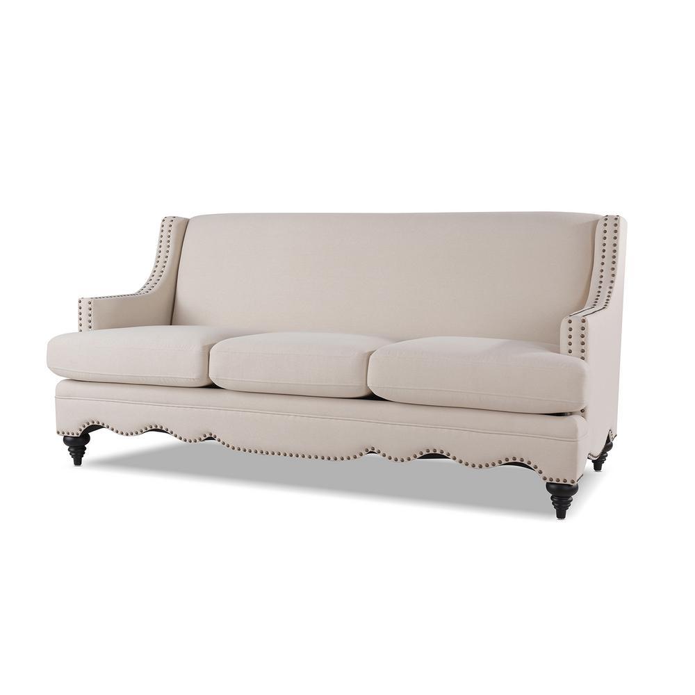 Marisole Sky Neutral Recessed Sofa