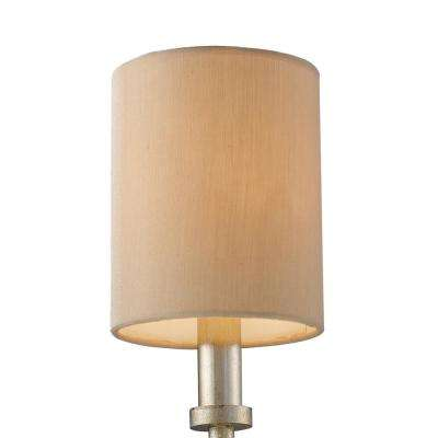 New york 1 light beige fabric mini shade