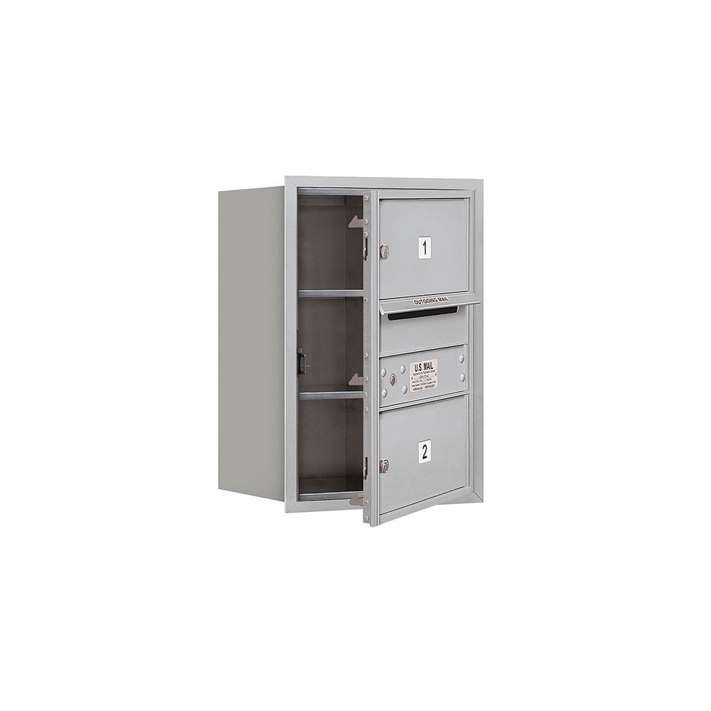 3700 Horizontal Series 2-Compartment Recessed Mount Mailbox