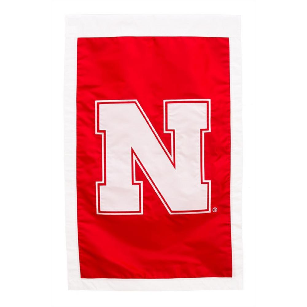 2.4 ft. x 3.6 ft. University of Nebraska Applique House Flag