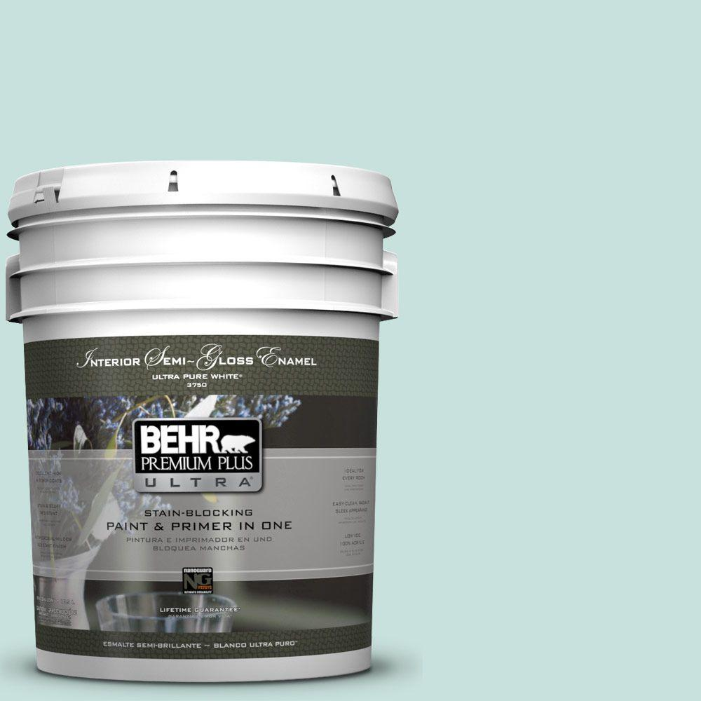 5-gal. #M440-1 Rio Sky Semi-Gloss Enamel Interior Paint
