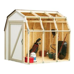2 x 4 Basics Shed Kit with Peak Roof-90192 - The Home Depot