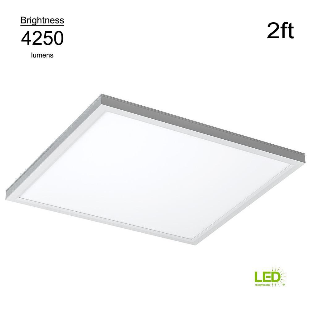 Commercial Drop Ceiling 2 Ft X White 5000k Dimmable Integrated Led Flat Panel Troffer