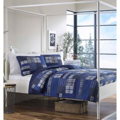 Eastmont Navy Twin Quilt Set (2-Piece)