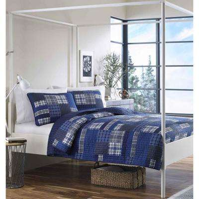 Eastmont Navy Full/Queen Quilt Set (3-Piece)
