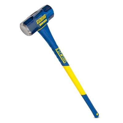 12 lbs. Hard Face Sledge Hammer with 36 in. Fiberglass Handle